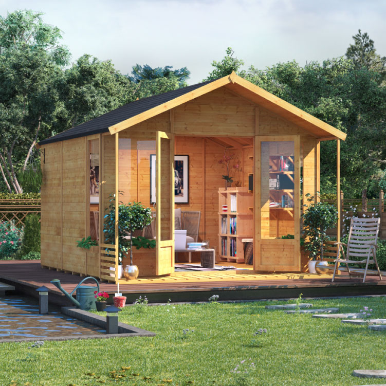 Image of 10 x 10 BillyOh Ivy Tongue and Groove Apex Roof Garden Summerhouse