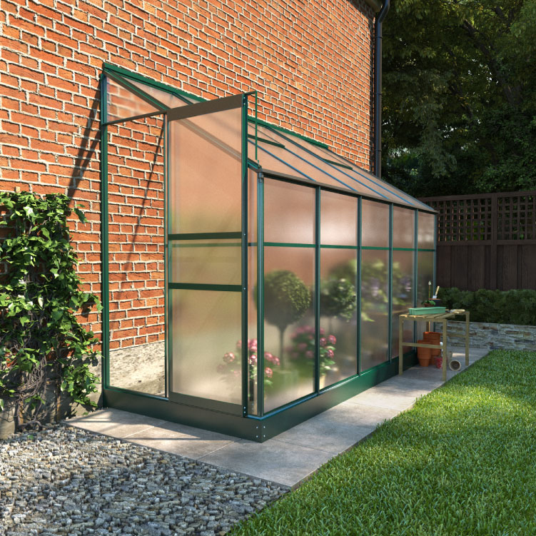 Image of BillyOh Polycarbonate Lean-To Greenhouse - 4x10