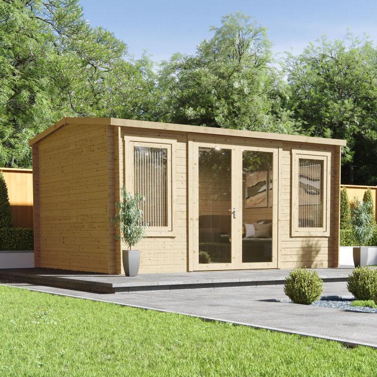 5.1 x 3 Log Cabin - BillyOh Highfield Log Cabin - 5.1m x 3.0m Reverse Apex Cabin With 44mm Walls