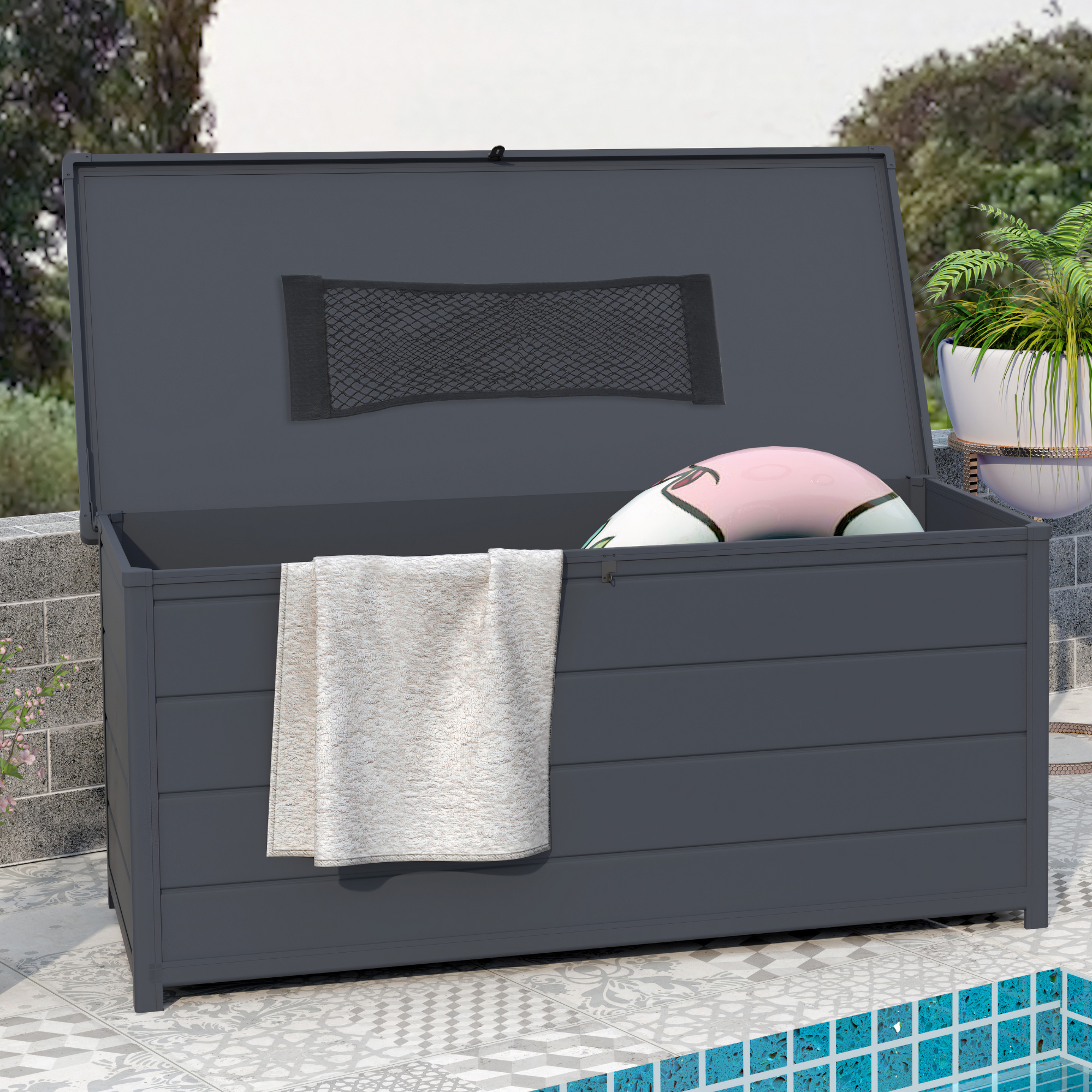 Click to view product details and reviews for Billyoh Swindon Plastic Garden Storage Box Grey 7 X 7.