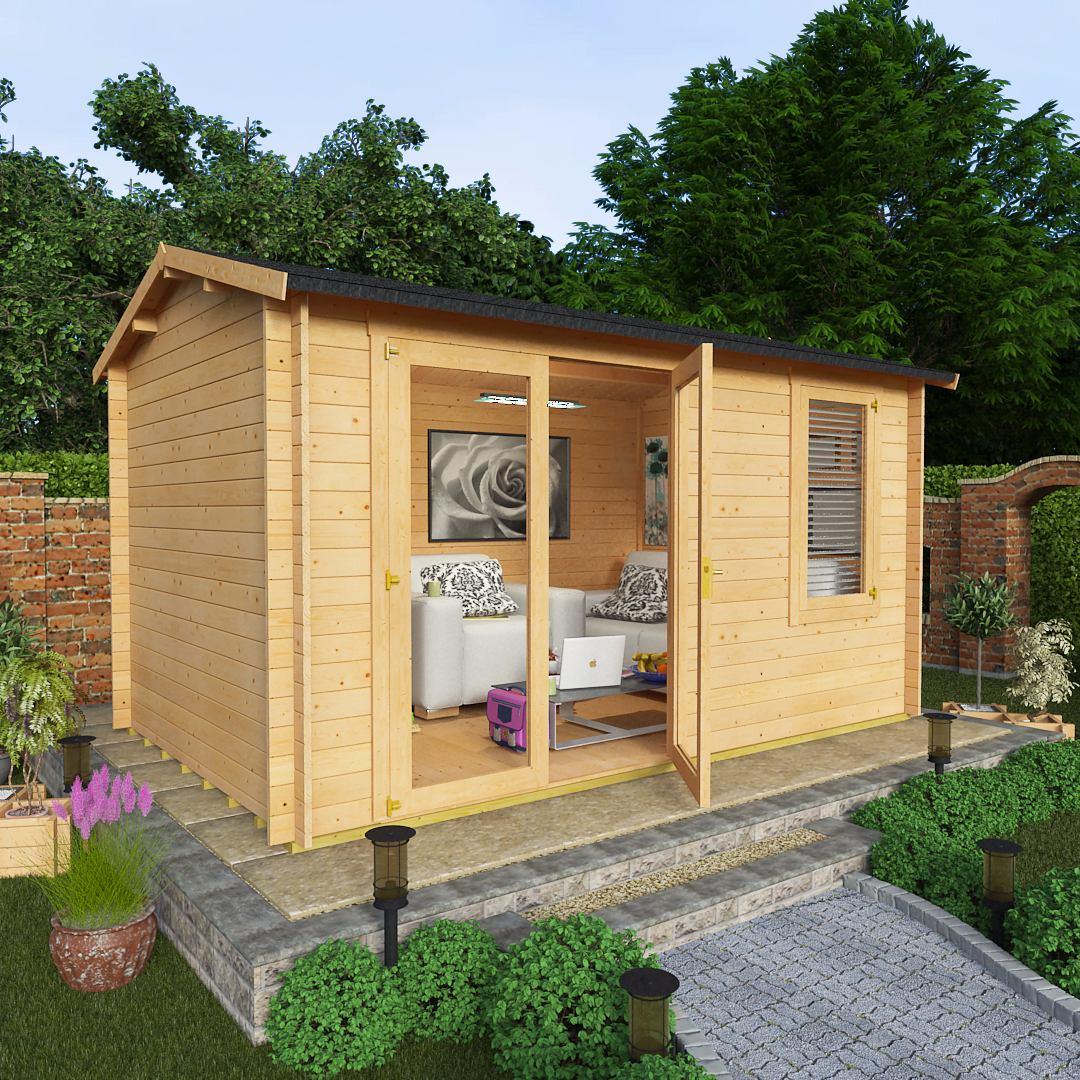 BillyOh 4.0 x 2.5 28mm Devon Garden Log Cabins