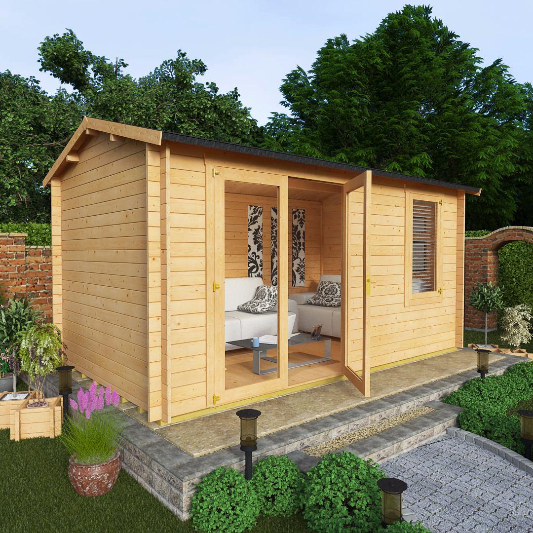 Billyoh 4 5 x 2 5 28mm devon garden log cabins garden for Garden log cabins uk