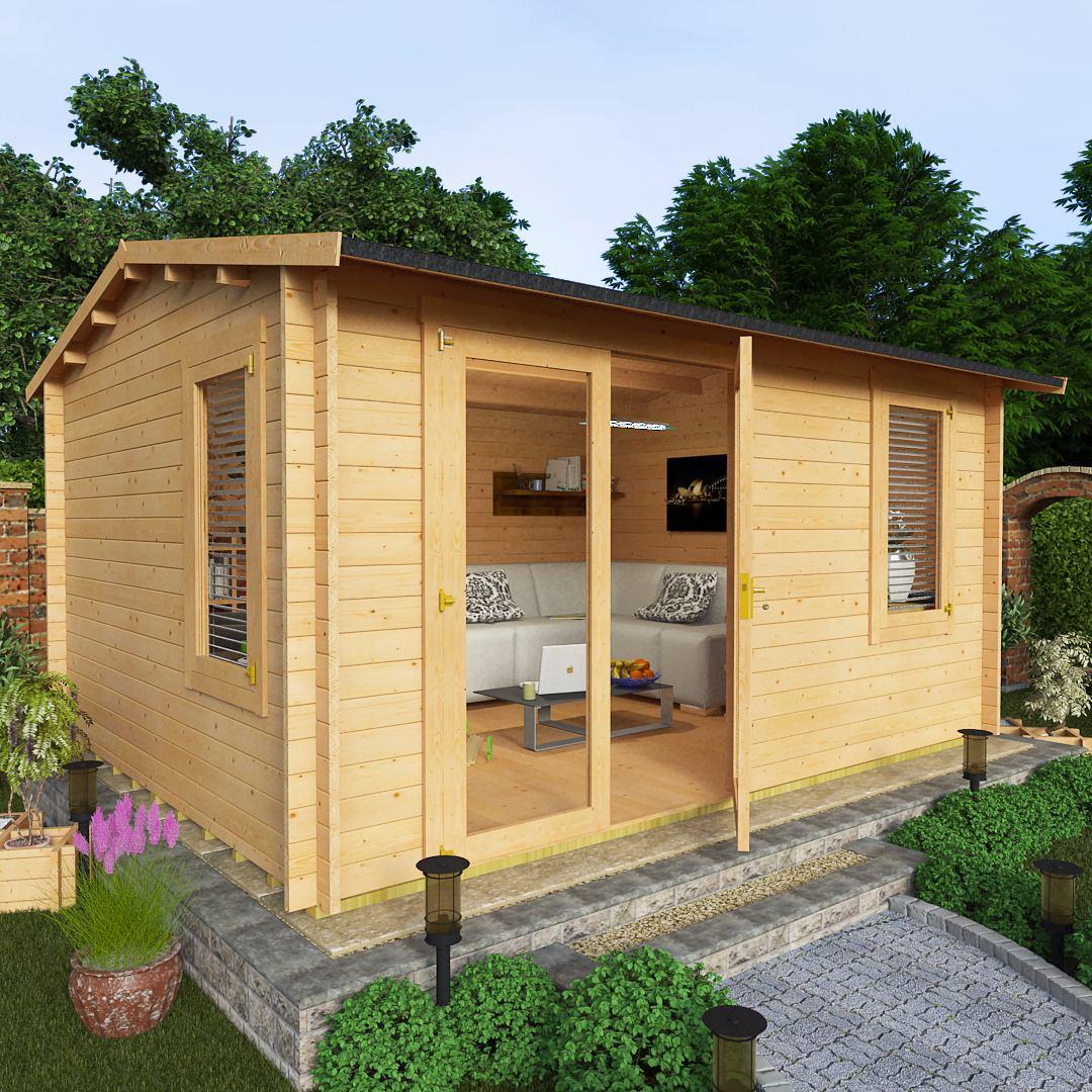 BillyOh 4.5 x 3.5 35mm Devon Garden Log Cabin
