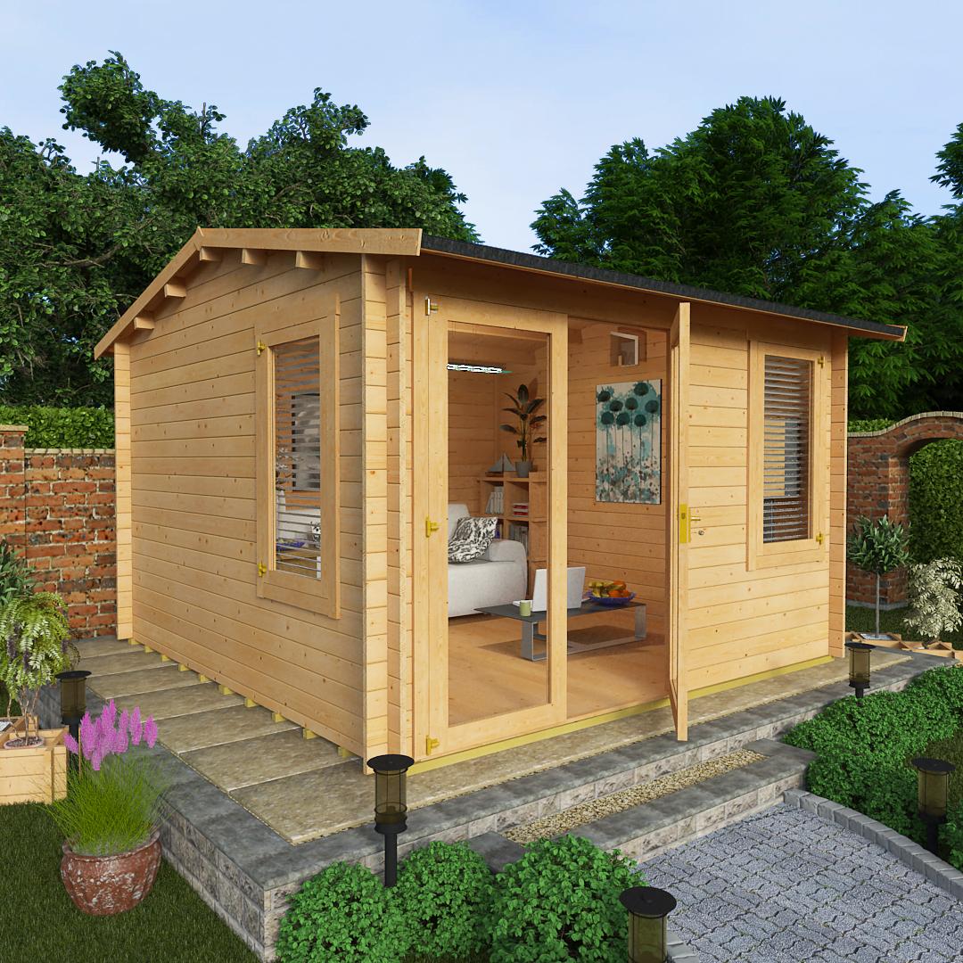 BillyOh 3.5 x 3.5 44mm Devon Garden Log Cabin Side Window