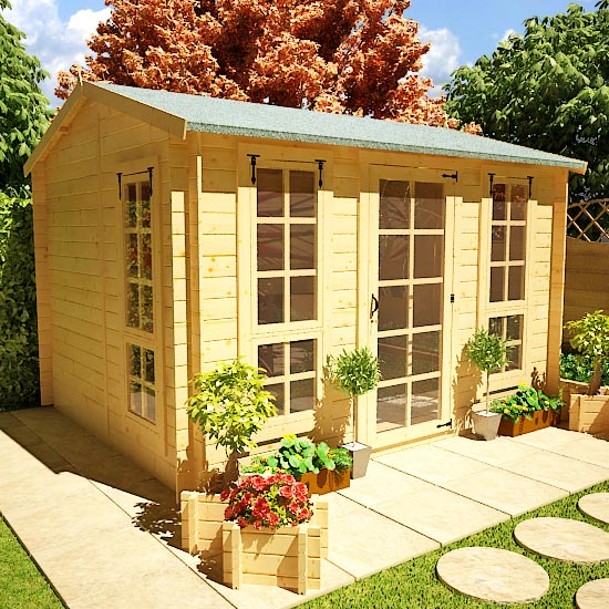3.0 x 2.5m BillyOh Pathfinder Huntsman Log Cabin - 19