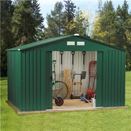 Image of BillyOh Clifton Refurbished 10' x 8' Fronted Premium Metal Sheds Including Assembly - Clifton Refurbished 10 x 8