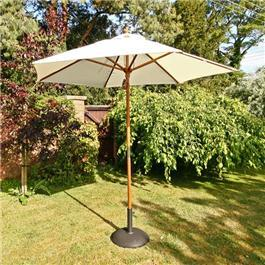 Sturdi 2.5m Hardwood Frame Garden Parasol - Natural