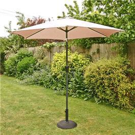 2.5m Sturdi Plus Aluminium Crank and Tilt Garden Parasol -Taupe